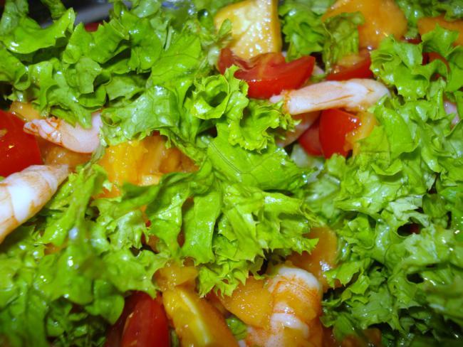 Glasnudelsalat (der keiner ist) mit Garnelen und Papaya