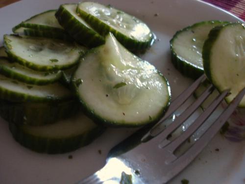 Gurkensalat: Schnell ganz frisch auf den Tisch