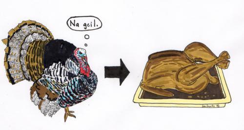Thanksgiving: Erntedank mit nem großen Truthahn und anschließendem Völlegefühl