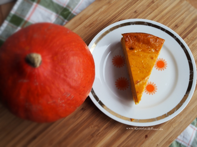 Was Leckeres für den Herbst: Kürbis-Käsekuchen