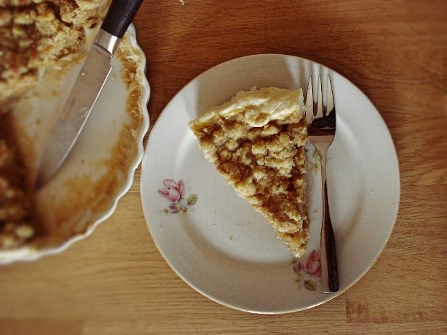 Pumpkin Pie mit Walnuss-Streuseln