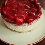 Mit frischen Erdbeeren: Strawberry Cheesecake
