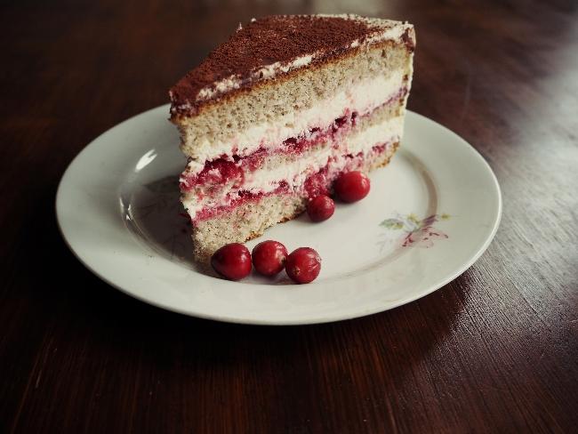 Cranberry-Torte aus Buchweizen