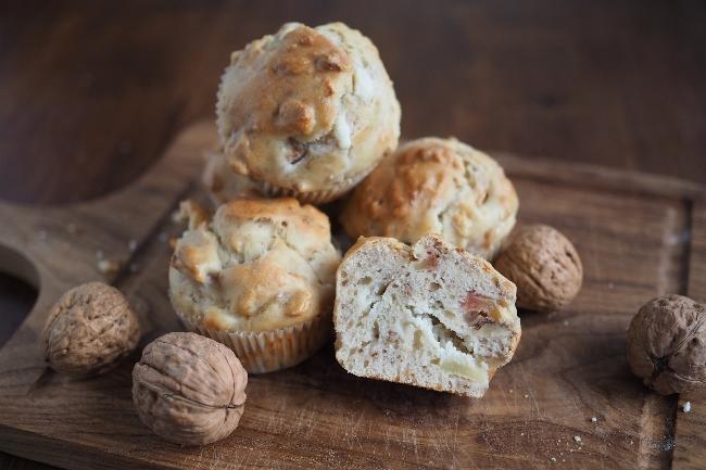 muffins-apfel-joghurt-walnuss-ziegenkäse