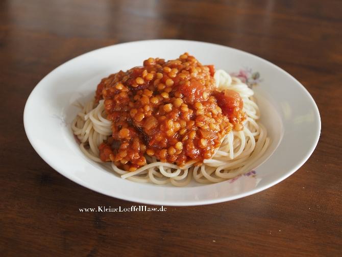 Rote-Linsen-Bolognese: eiweißreiches Fitmach-Futter