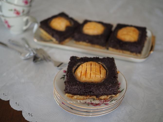 Apfel Mohnkuchen Auf Dem Blech Mit Selbstgemachtem Mohnback