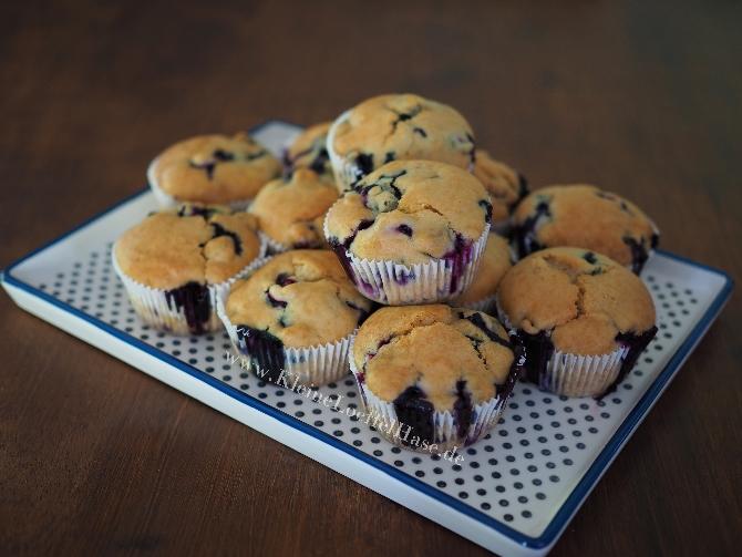 Fluffige & vegane Blaubeermuffins – sojafrei