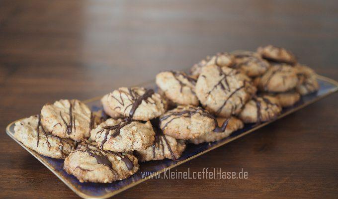 Schnell gebackene Erdnussbutter-Kekse