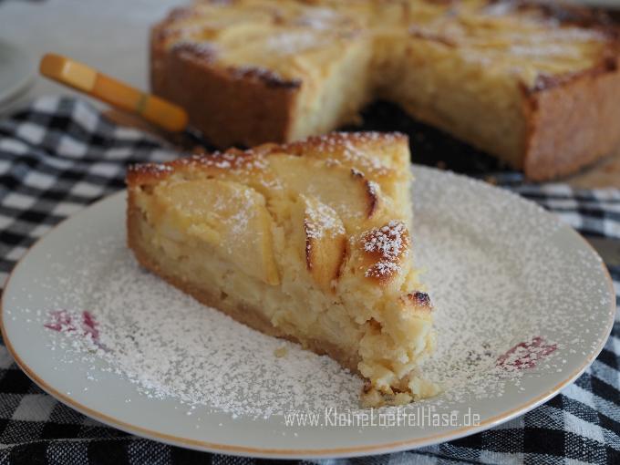 Apfel-Marzipankuchen mit Mürbeteig {köstlich & saftig}