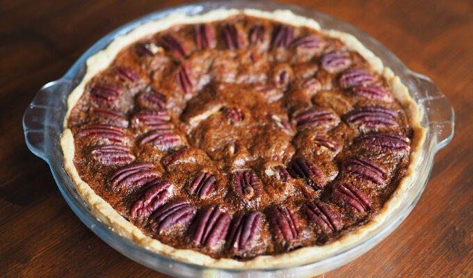 Pecan-Pie wie aus den Südstaaten mit Bourbon